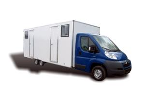 Fahrzeugbau – Produkt: Maskenmobil-Kastenaufbau – Basis Ciroën Jumper