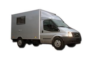 Fahrzeugbau – Produkt: Bürokabine – Basis Ford Transit