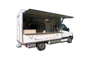 Verkaufsfahrzeuge – Verkaufsmobile: Hähnchengrill - Imbiss / Basis Mercedes Sprinter