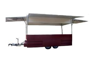 Verkaufsfahrzeuge – Verkaufsanhänger: Ausschankwagen / Weinverkauf