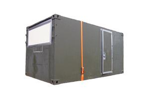 Bundeswehr-Shelter als Kabine