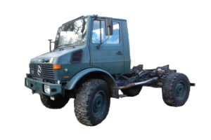 Wohnkabinen / Offroad-LKW - Hilfsrahmen: Basis Mercedes Unimog 1300
