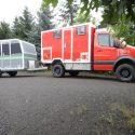 Offroad-Caravan X-Indoor / Produkt: Offroad-Wohnkabine auf Einachser-Fahrgestell / Gespann Mercedes Sprinter