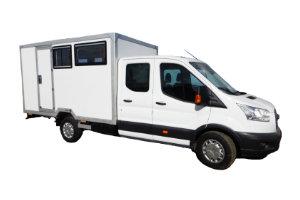 Wohnkabinen / Offroad-LKW - Basis Ford Transit Doka mit Zwillingsbereifung