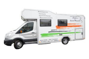 Wohnkabinen / Offroad-LKW - Basis Ford Transit mit Zwillingsbereifung und Rollstuhllift - behindertengerecht