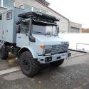 Wohnkabinen / Offroad-LKW - Hilfsrahmen: Basis Mercedes Unimog 1300 L