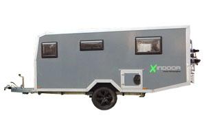 Offroad-Caravan X-Indoor / Produkt: Offroad-Wohnkabine auf Einachser-Fahrgestell / Modell Extra-Lang