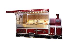 Lokomotive als Verkaufsmobil